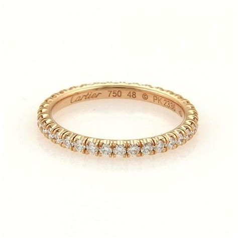 pre owned cartier 18k gold diamonds circle