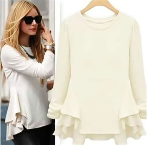 Sweater Banana Glases Blouse Atasan Wanita Top blouse s top beige top palermo peplum