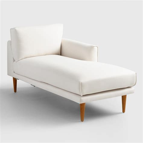 right arm chaise lounge ivory nica right arm facing chaise lounge world market