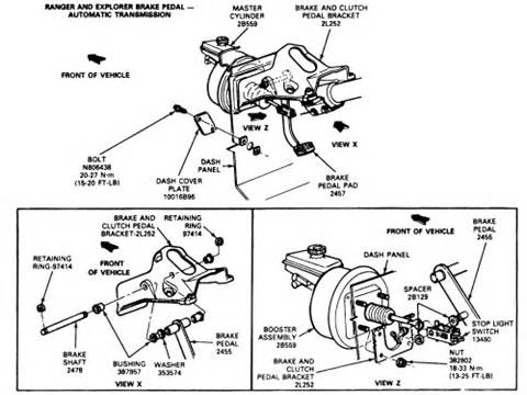 Check Brake System Ford Expedition Ford Explorer Eddie Bauer How Do I Replace The Brake Booster