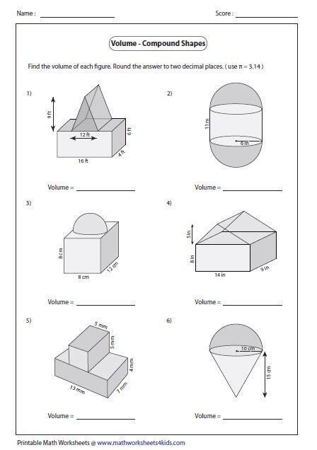 printable math worksheets surface area mixed shapes area mixed shapes worksheet free worksheets library