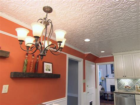 How To Hang Ceiling Tile by How To Install A Tin Tile Ceiling How Tos Diy