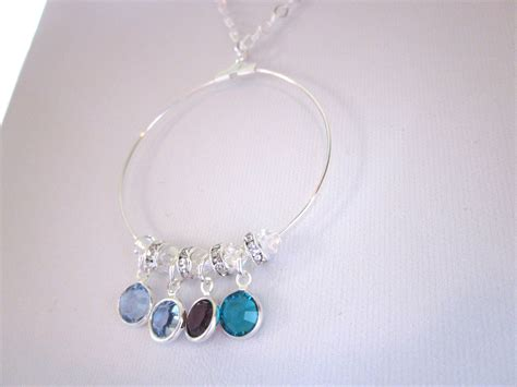 necklace mothers day gift swarovski drops