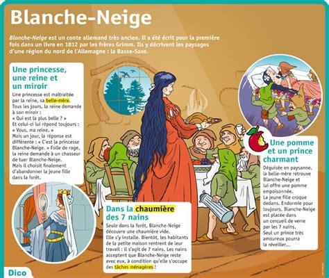 Blanche Neige En Francais by Fiche Expos 233 S Blanche Neige Primaire Fran 231 Ais 7