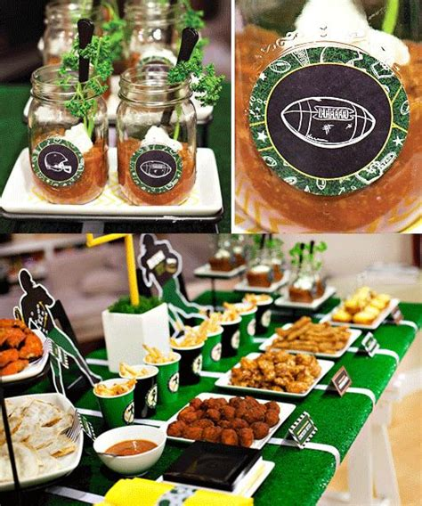 themed food events superbowl football party bash event ideas decor food