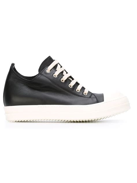 s low top sneakers lyst rick owens low top sneakers in black for