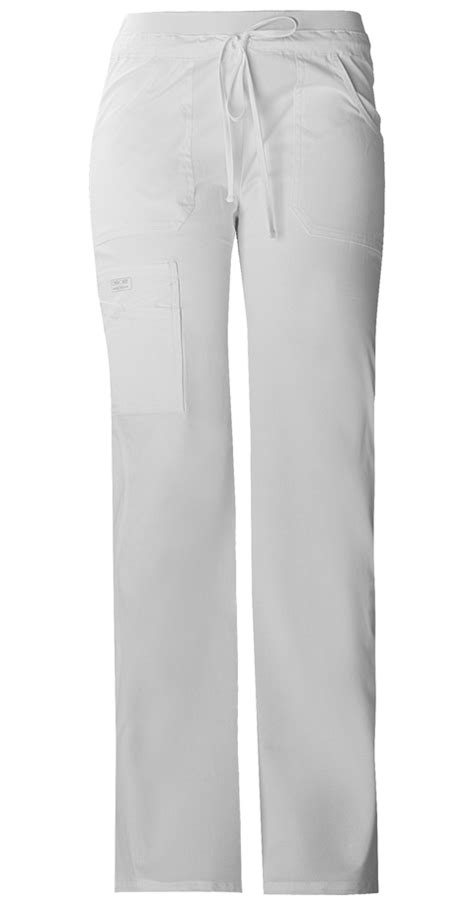 my wont stop panting low rise drawstring cargo pant in white from scrubs stop