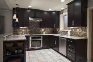 The espresso kitchen cabinets in a modern kitchen style my kitchen