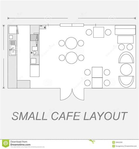 Pizzeria Floor Plan by Small Cafe Layout Stock Vector Illustration Of Shop