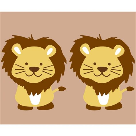 Nursery Wall Murals custom lion stickers for kids