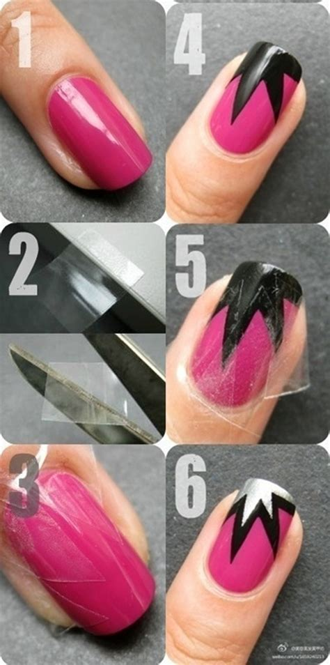 How To Make Nail Designs With Paper - how to do nail step by step 3 easy simple steps