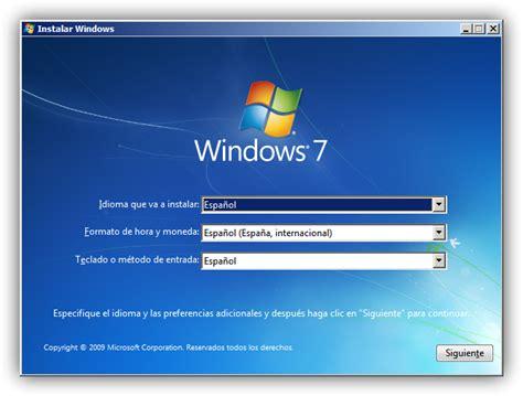 imagenes instalacion windows 10 instalar windows 7 manual de instalaci 243 n del sistema