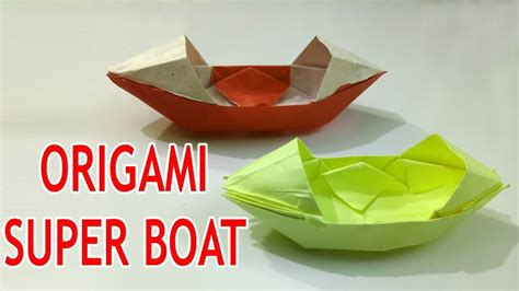 origami boat that floats on water paper boat that floats on water how to make a easy