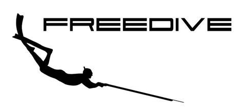Spearfishing Freediver   Vinyl Sticker