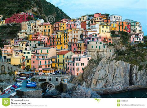 On The Town Nation 5 by Manarola Town At Cinque Terre National Park Italy