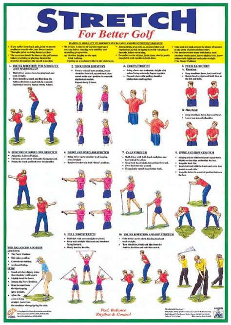 gym exercises for golf swing golf exercises and stretches warm up stretching booklet