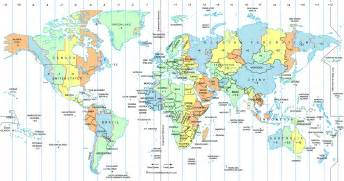 time zone map free large images
