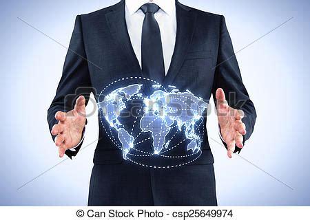 mundo do homem espiritual imagem de stock royalty free homem neg 243 cios mundo segurando mapa azul trace