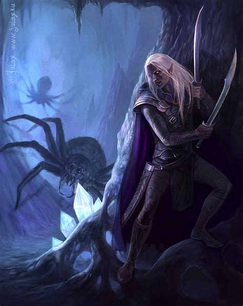drizzt 013 forgotten realms in the cave drizzt do urden by cg warrior on