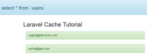 laravel cache tutorial laravel cache tutorial web development tutorials