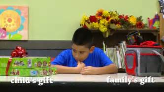 watch kids choose between a gift for themselves or their parents 100 5 kwiq