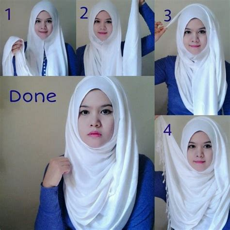 tutorial hijab simple buat kerja 17 best ideas about hijab styles on pinterest hijab