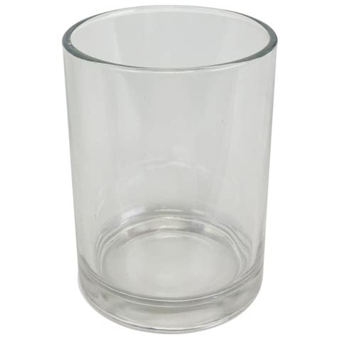 clear glass votive candle holder 5in h