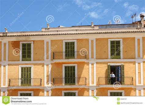 spanish appartment spanish apartment block royalty free stock photography
