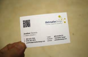 new business cards antimatter design