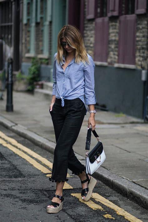 Zara Summer Black zara pom pom hem black cropped trousers wedge espadrilles