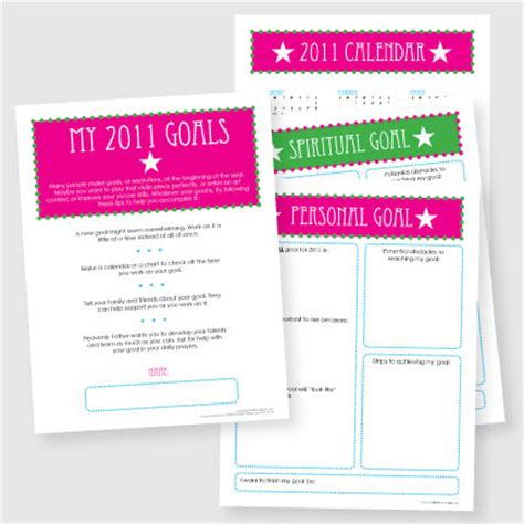 new year goal setting wendy s activities