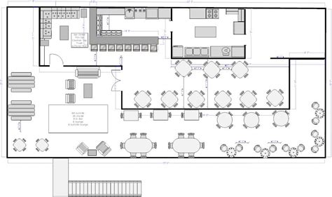 floor plan for a restaurant 1y