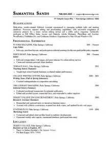 Resume Portfolio Sles by Copy Editor Resume