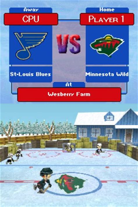 backyard hockey ds backyard hockey nds preview