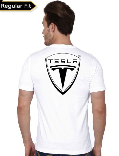 tesla motors white t shirt