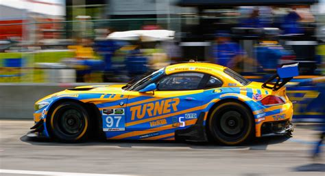 turner motor sport fought fourth place finish for turner bmw z4 at vir