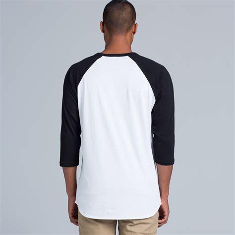 Tshirt Raglan Black 5012 raglan t shirts unisex as colour