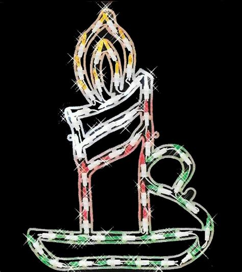 17 5 quot led lighted candle sculpture 40 led lights indoor