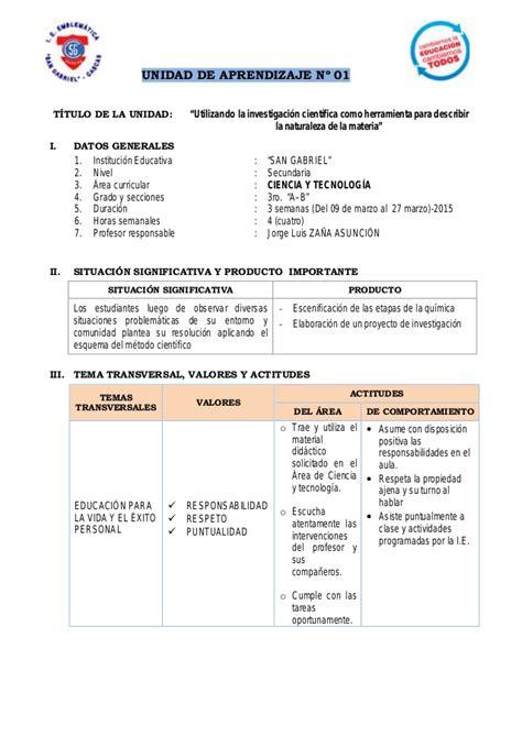 unidad de aprendizaje primaria 2015 pdf unidad de aprendizaje 3er secundaria 2015