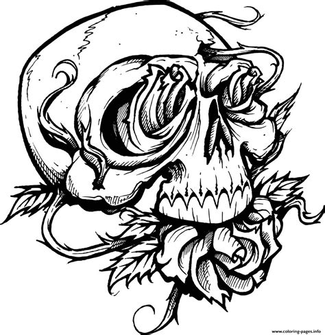 coloring pages with skulls print sugar skull with roses coloring pages sugar skull