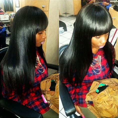 Sew In With Bangs Hairstyles by Sew In Weave Bob Hairstyles With Bangs Www Imgkid