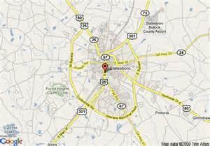 map of howard johnson inn statesboro ga statesboro