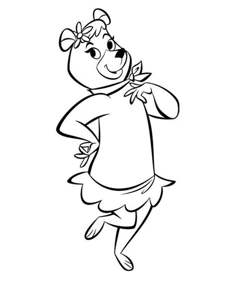 coloring pages of yogi bear yogi bear coloring pages for childrens printable for free