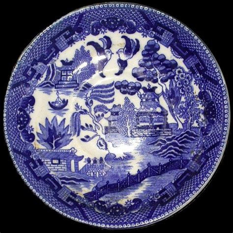 brown willow pattern handmade by amo r ireland willow pattern sea pottery