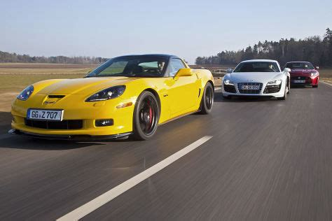 Auto Bild Sportscars Corvette Z06 by Vergleich Chevrolet Corvette Z06 Audi R8 V10 Jaguar Xkr S