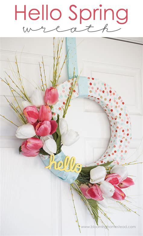 spring diy diy spring wreath lil luna