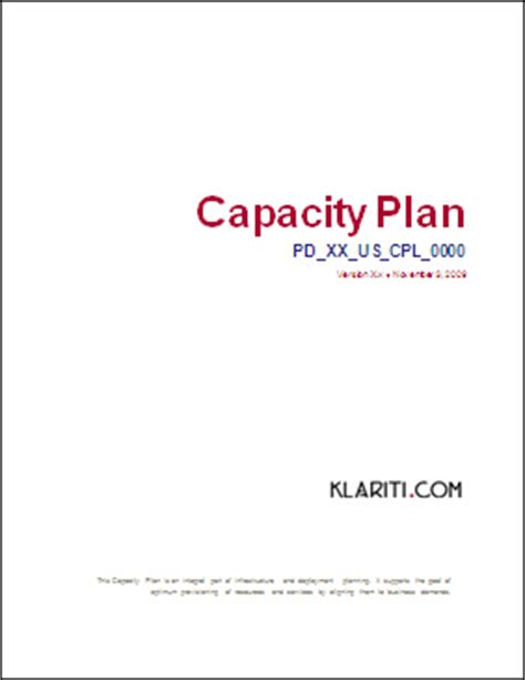 capacity management plan template how to write a capacity management plan ms word template