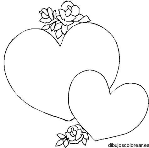 imagenes de corazones unidos para dibujar dibujo de dos corazones con rosas