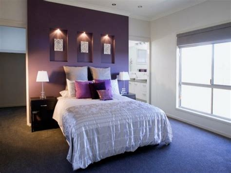 Purple Feature Wall Bedroom by Furniture Delightful Wall Decals For Ideas