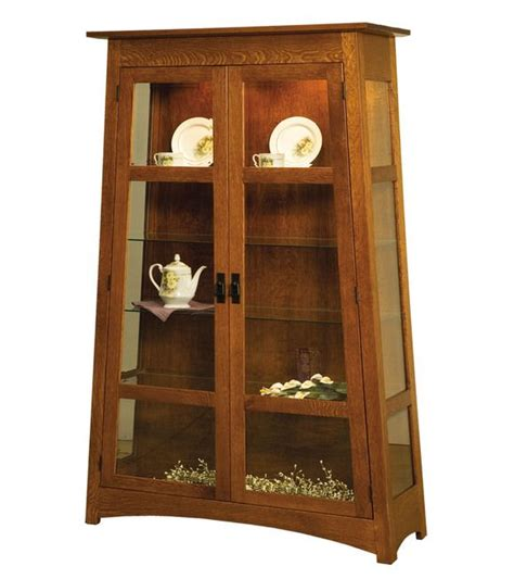 mission style curio arts crafts style curio i need something with